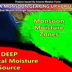 Upswing In Arizona Monsoon Expected In September; Metros To Be Further Impacted