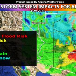 FINAL FORECAST: Pacific Storm Impacts Arizona on Friday; Complete Model Image Suite for Rain, Snow, Flood, Alerts Inside