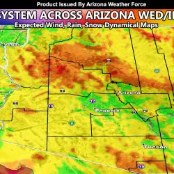 Weather System To Affect Arizona Wednesday into Wednesday Night; Full Model Image Suite Inside