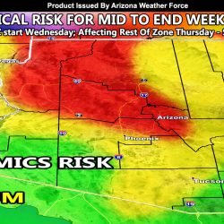 Pacific Storm To Impact Arizona Mid-week through Saturday; First Look