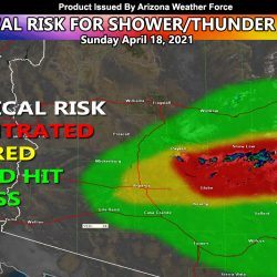 Showers and Thunderstorms for Maricopa County Eastward Today into Early Tonight; Dynamical Outlook