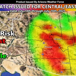 BREAKING:  Flood Watch Issued As Arizona Monsoon Ramps Up Between July 14th and 16th; All Metros Prepare Now