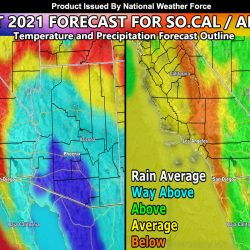 August 2021 Forecast For Southern California and Arizona;  A Month With Active and Slow Periods With The Monsoon
