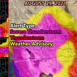 Severe Weather Dynamics Across Arizona For August 29th 2021; Working On My Birthday; FOUR Zoom-In Models included for Hail, Wind, Storm Coverage, and Severe Risk