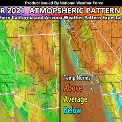 September 2021 Weather Forecast Outline For The Southwest United States; Update On Current El Nino and La Nina Forecast