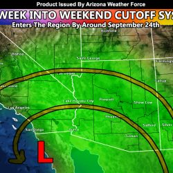 Cutoff Low To Provide Upswing in Precipitation Across Arizona Starting End This Week and Going Well Into The Next Several Days Thereafter