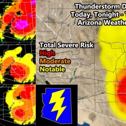 Enhanced Severe Thunderstorm Watch Issued For I-10 Corridor from Phoenix to Tucson, Surrounding Pinal County;  Thunderstorm Dynamics Elsewhere; Details